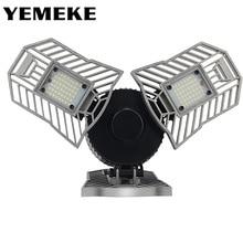 60W 144 נוריות Deformable מנורת מוסך אור E27 Led תירס הנורה בעוצמה גבוהה חניה מרתף מחסן תעשייתי בית תאורה