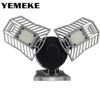 60W 144 LEDs Deformable Lamp Garage Light E27 Led Corn Bulb High Intensity Parking Warehouse Basement Industrial Home Lighting