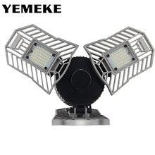 60w 144 leds deformable lâmpada da garagem luz e27 led milho lâmpada de alta intensidade estacionamento armazém porão casa industrial iluminação