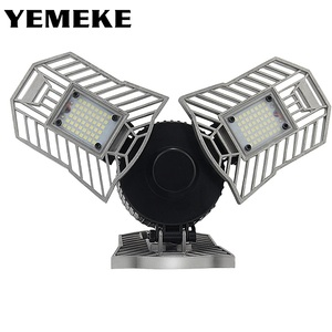 Image 1 - 60w 144 leds deformable lâmpada da garagem luz e27 led milho lâmpada de alta intensidade estacionamento armazém porão casa industrial iluminação