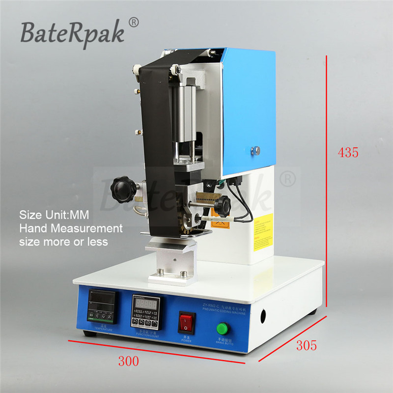 ZY-RM2-C Pneumatische Dialling code drucker, BateRpak Zifferblatt codierung maschine, Automatische Stanzen Maschine, leder LOGO Rillen maschine