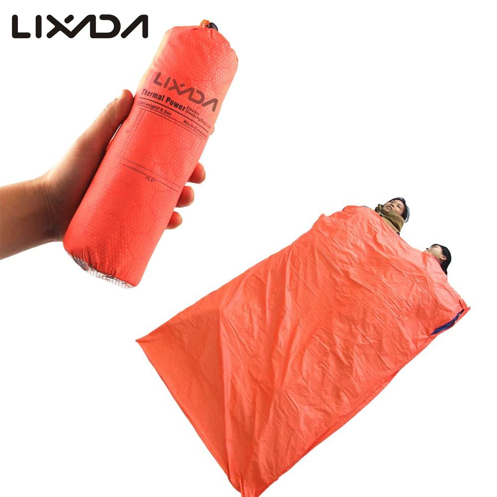 Lixada Portable Double Envelope Sleeping Bag Outdoor Camping Travel Hiking Sleeping Bag 200 * 145cm For Sales Promotion