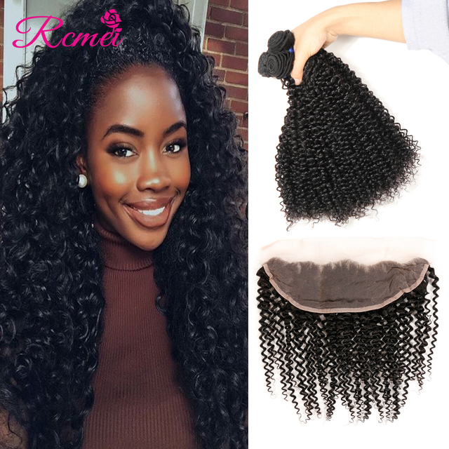 8A Brazilian Virgin Hair Full Lace Frontal Closure with Bundles 13x4 ear to ear Curly Human Hair Weave Bundles with Lace Closure