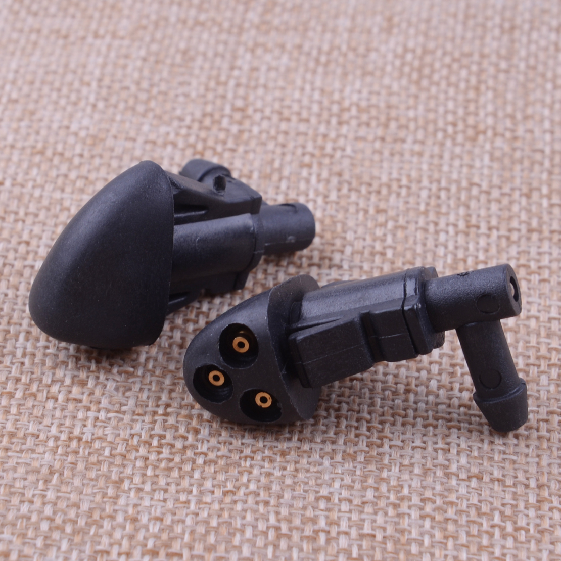 CITALL 2Pcs 3-Hole Car Windshield Washer Wiper Water Spray Nozzle Fit For Chevrolet Cruze 2009 2010 2011 2012 2013 2014