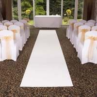 Free Shipping Pure White Cheap Wedding Aisle VIP Carpet Runner For Church Stage Hall Wedding Carpet