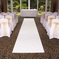 Free Shipping Pure White Cheap Wedding Aisle VIP Carpet Runner For Church Stage Hall Wedding Carpet