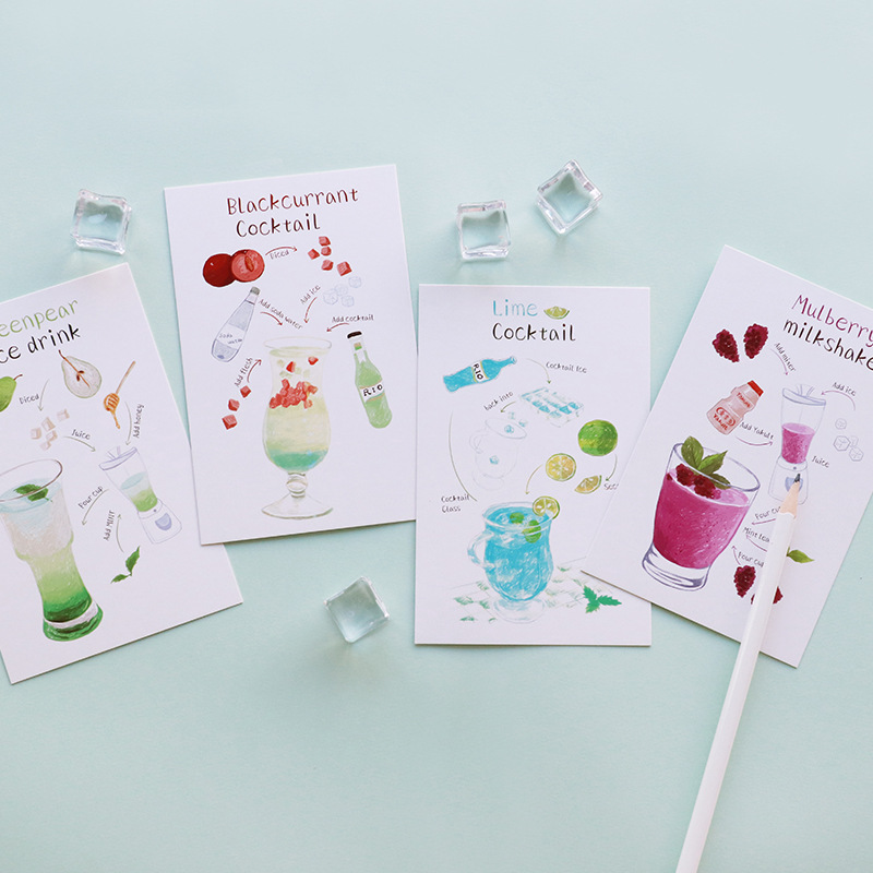 30pcs make a cup of cocktail for you card multi-use as Scrapbooking party invitation DIY ...