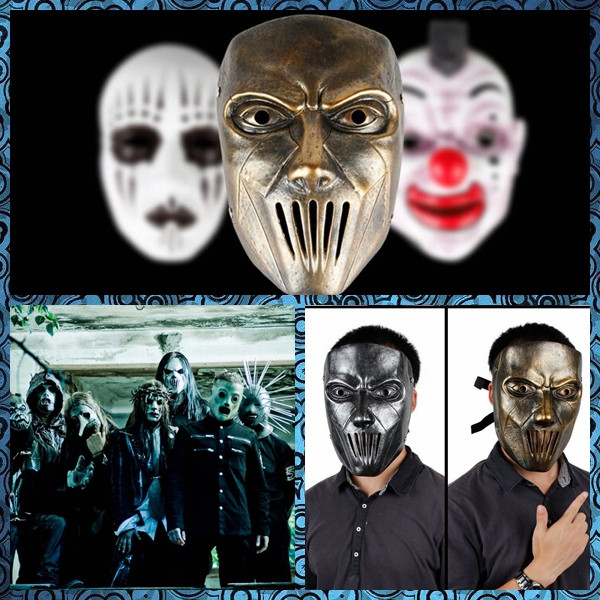 free shipping 1pc heavy metal music band slip joker joey milk scary masks halloween costumes horror - Band Halloween Costumes