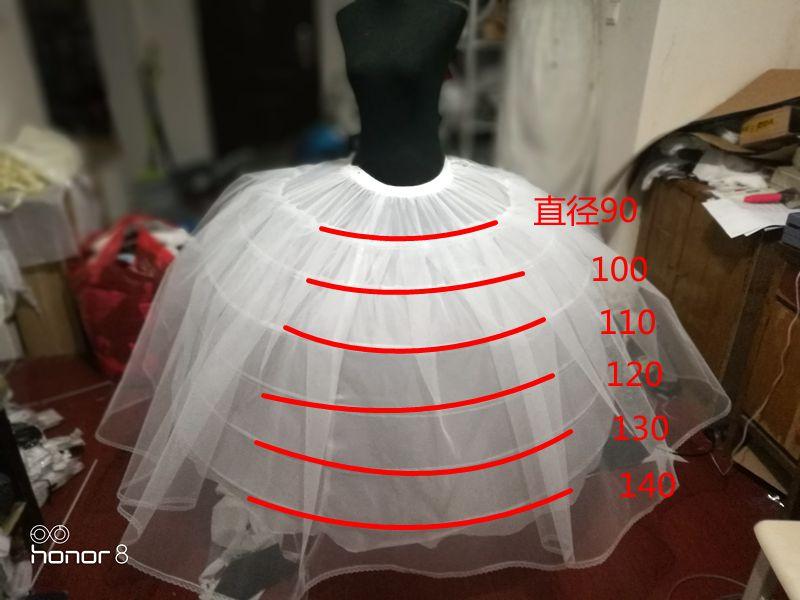 Puffy 6 Hoops Petticoat Crinoline Slip Underskirt For Wedding Dress Bridal Gown