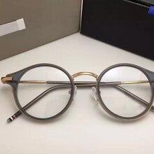 Том круглые оправы для очков по рецепту для мужчин и женщин, модные очки для чтения, компьютерная оптическая оправа TB807 с оригинальной коробкой