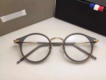 Thom Round prescription Eyeglasses Frames Men And Women Fashion reading Glasses Computer Optical Frame TB807 With Original Box - DISCOUNT ITEM  0% OFF All Category