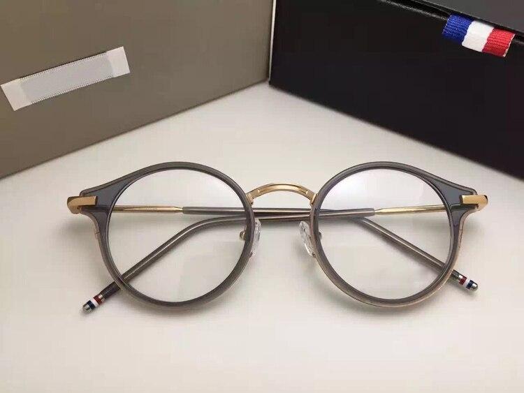 Thom ronde prescription lunettes cadres hommes et femmes mode lunettes de lecture ordinateur optique cadre TB807 avec boîte d'origine