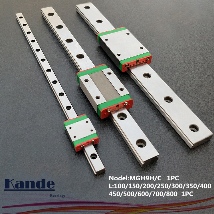 MGN9 CNC 9mm Miniature Linear Rail Guide  MGN9C L100 - 600 Mm MGN9 Linear Block Carriage Or MGN9H Narrow Carriage