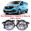 Для RENAULT TRAFIC II автобус JL 2001 - 2015 10 Вт противотуманные фары из светодиодов DRL дневные ходовые огни стайлинга автомобилей лампы