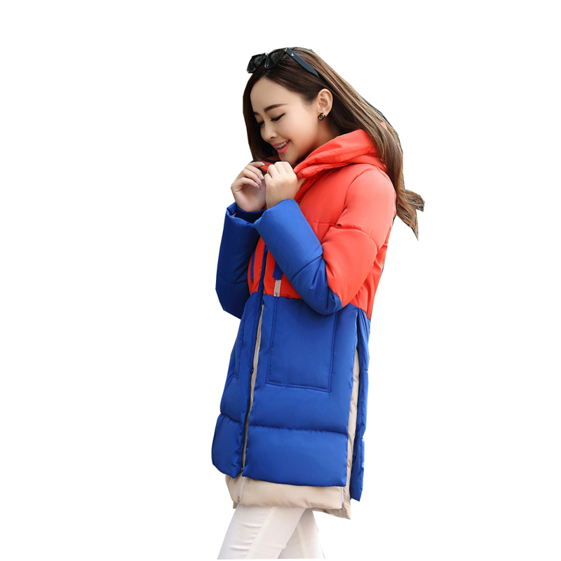 2017 Hot Selling Autumn Winter Big Plus size outerwear female thickening tooling down cotton medium-long Jacket Cheap wholesale maternity clothing top with a hood medium long thickening cardigan autumn and winter plus size outerwear female sweater