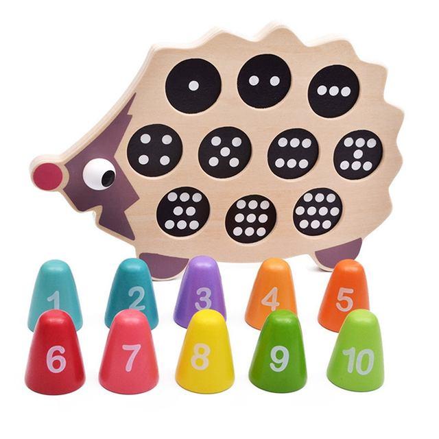 Juguete de aprendizaje de los números en madera – montessori