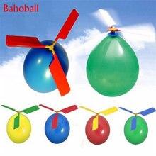 Globo de helicóptero portátil para jugar al aire libre, Globos de juguete decoraciones para fiesta de cumpleaños, suministros de fiesta, 5 uds.