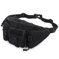 Wear resistant Military Waist Bag 5L Large Capacity, Water Bottle Pocket, Supports 5.5 Inches Mobile Phone, Men Waist Pack