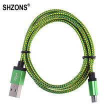 1m V8 Micro USB Cable Braided Micro USB Sync Data Charger Cord for Samsung S5 S6 S7 for Huawei Xiaomi Android Smartphone X125