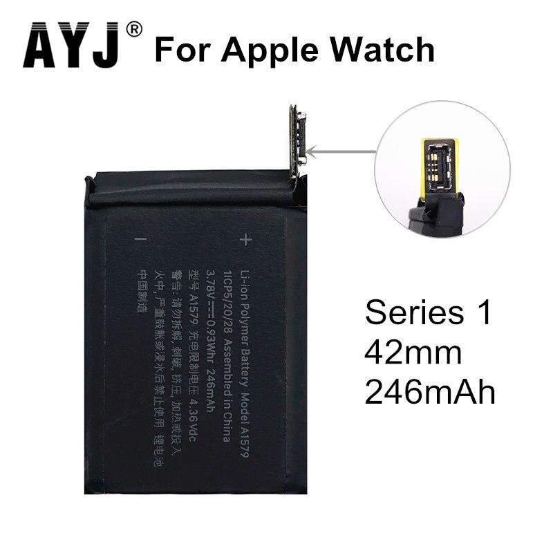 Ayj original a1579 bateria para apple assistir série 1 42mm s1 a1761 246 mah real série de alta capacidade 1 42mm 100% testado