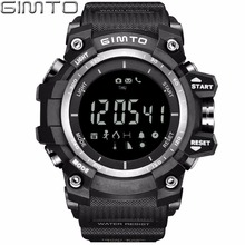 GIMTO Marca Negro Hombres Del Reloj Del Deporte Digital Altímetro Barómetro Smartwatch Impermeable Masculino Reloj de Buceo Choque Militar LED Relojes