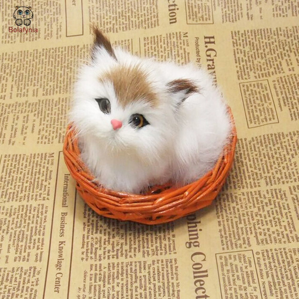 Dynamic Bolafynia Creative Gift Fur Cat Home Decoration Toy Simulation Animal Toy Adornment For Girl Gift Bringing More Convenience To The People In Their Daily Life Toys & Hobbies
