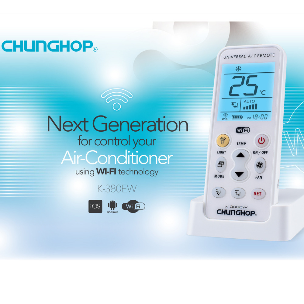 For CHUNGHOP K-380EW Mini Split Air Conditioning SMART WIFI Remote Control chunghop rm l7 multifunctional learning remote control silver