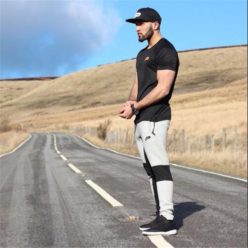 Image 5 - 2018 New Running Tights Men Joggers Compressed Pants Gym Men's Bodybuilding Pants Sports Skinny Legging Sportswear Long Trousers-in Running Pants from Sports & Entertainment