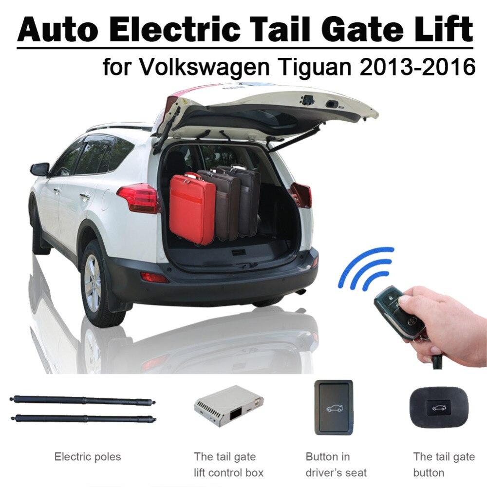 Auto Électrique Queue Porte Ascenseur pour Volkswagen VW Tiguan 2013-2016 en Voiture À Télécommande Siège Bouton de Contrôle Ensemble Hauteur éviter Pincée