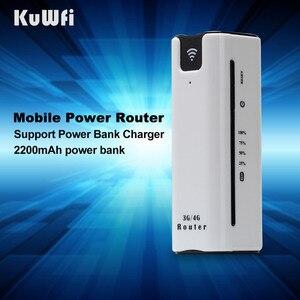 Image 5 - KuWFi 21.6Mbps kilidi açık seyahat 3G WIFI yönlendirici kablosuz akıllı mobil wifi router güç bankası sim kartlı router yuvası