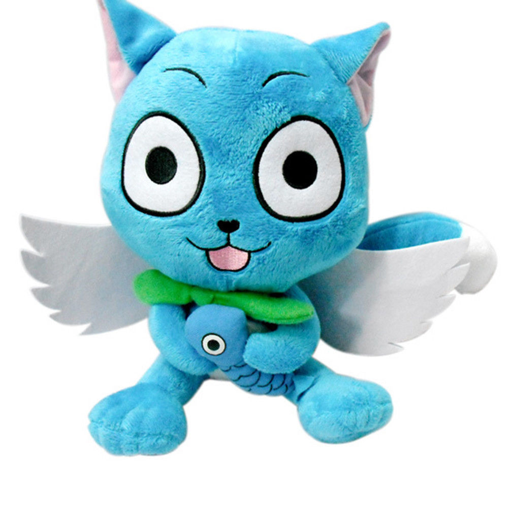 30cm Cute Fairy tail happy Plush Doll Toys Stuffed Animal Pillow Quality Bolster Mascot