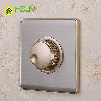 86 Type Air Conditioner Fan Volume Switch S5 Stainless Steel switch with Four Adjustable Wall Panel