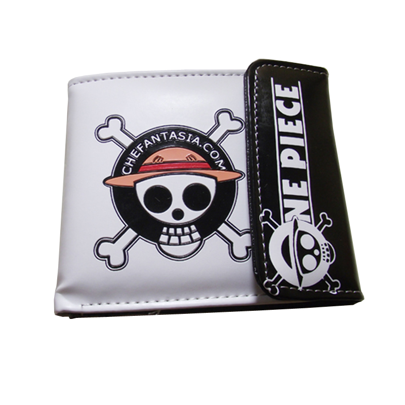 PU short wallet with colorful printing of Anime One Piece Luffy's skull pu short wallet w colorful printing of naruto shippuden uchiha itachi