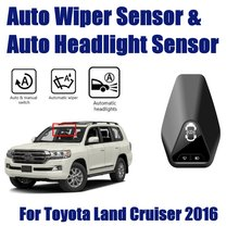 For Toyota Land Cruiser 2016~2019 Car Automatic Rain Wiper Sensors & Headlight Sensor Smart Auto Driving Assistant System