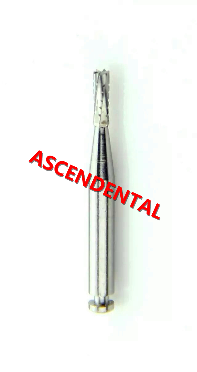 Coupe transversale en bout à bout plat de cylindre de burette en carbure RA pour pièce à main à angle opposé de clinique dentaire, matériau dentaire.