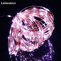 Copper Wire String Lights 165ft/50M 500 Mini invisible LED Starry Fairy Light for Holiday Wedding Party Garden decor with power