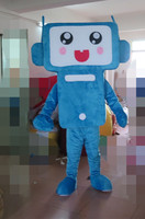 2017 100% in-kind shooting blue television mascot costume adult television costume