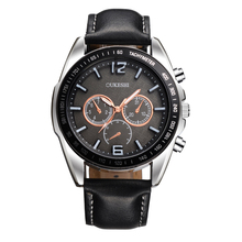 OUKESHI Fashion Popular Men Watch Top Brand Luxury Genuine Leather Quartz Wristwatch Sport Casual Military Watches Reloges Clock