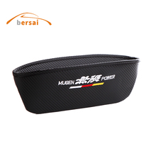 carbon fiber Seat Crevice Storage Box Bag JDM car styling for MUGEN power honda URV CRV CIVIC mazda 3 6 Auto accessories