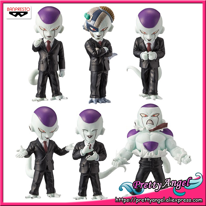 Genuine Banpresto World Collectable Figure WCF IDEAL BOSS FREEZA Dragon Ball Z Full Set of 6 Pieces Collection Figure new women pumps shoes high heels 12cm luxury designer patent leather wedding bridal shoes sexy women s shoes with heels b 0052