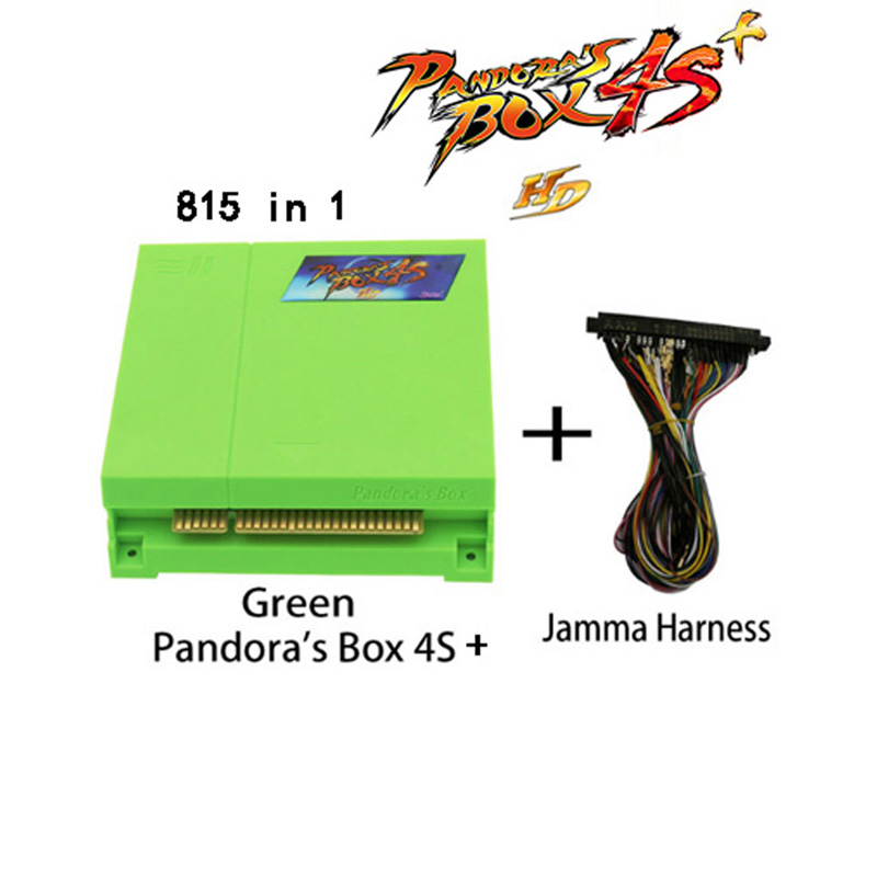 Pandora box 4S + jamma harness VGA/CGA output for LCD/CRT 815 in 1 mutli game board arcade jamma boards accesorios kit arcade new 645 in 1 pandora s box 4 hd pcb vga cga output for lcd crt jamma arcade cabinet machine game board jamma pandora box 4