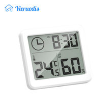 Mini Multifunction Thermometer Hygrometer Automatic Electronic Temperature Humidity Monitor Clock 3.2inch Large LCD Screen pop стоимость