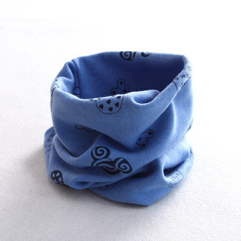 Осенне-зимний детский хлопковый шарф для девочек и мальчиков теплые шарфы Детский круглый кольцевой ошейник Детский шарф детский волшебный шейный платок - Цвет: M 4