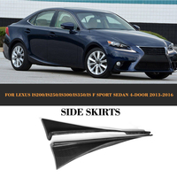 Carbon Fiber Car Side Skirts Trims for Lexus IS200 IS250 IS300 IS350 IS F Sport Sedan 4 Door 13 16 2PC Car Styling