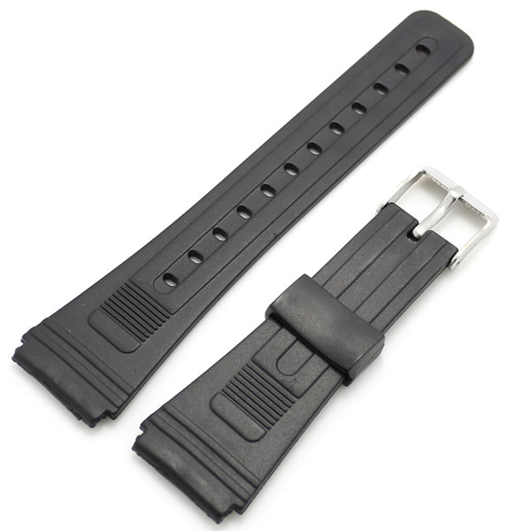 10pcs/Lot Black 20mm Band Width Rubber Wrist Watch Band Strap Stainless Steel Pin Buckle Mens Womens with Spring Bars stylish 8 led blue light digit stainless steel bracelet wrist watch black 1 cr2016