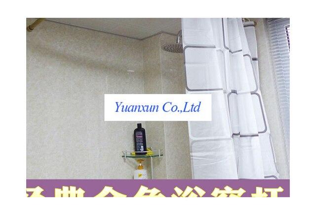 Douche Gordijn Stang : Klassieke gouden gebogen douchegordijnstang l vormige roestvrij