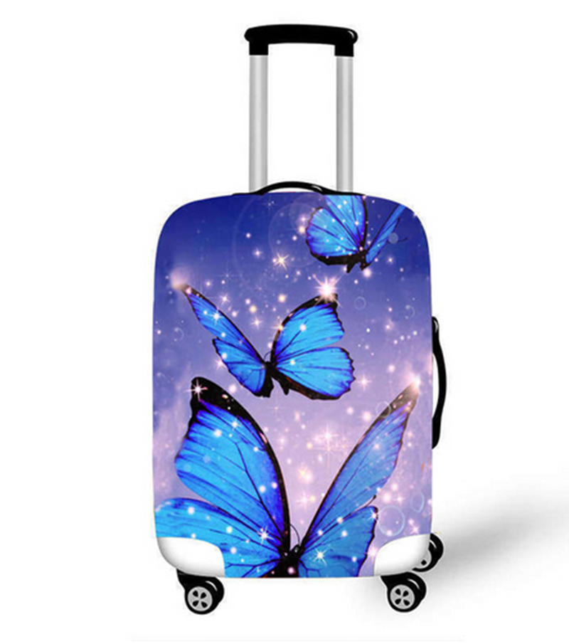 18-32 Inch Beautiful Butterfly Travel Luggage Thick Protective Covers Women Cute Bagages Girls Elastic Anti-Dust Suitcase