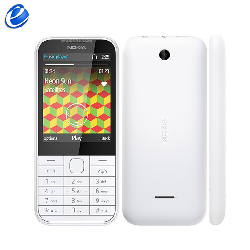 Original Nokia 225 Single Core 2 8 Unlocked 2MP Camera 2G GSM FM Bluetooth Mp3 Player