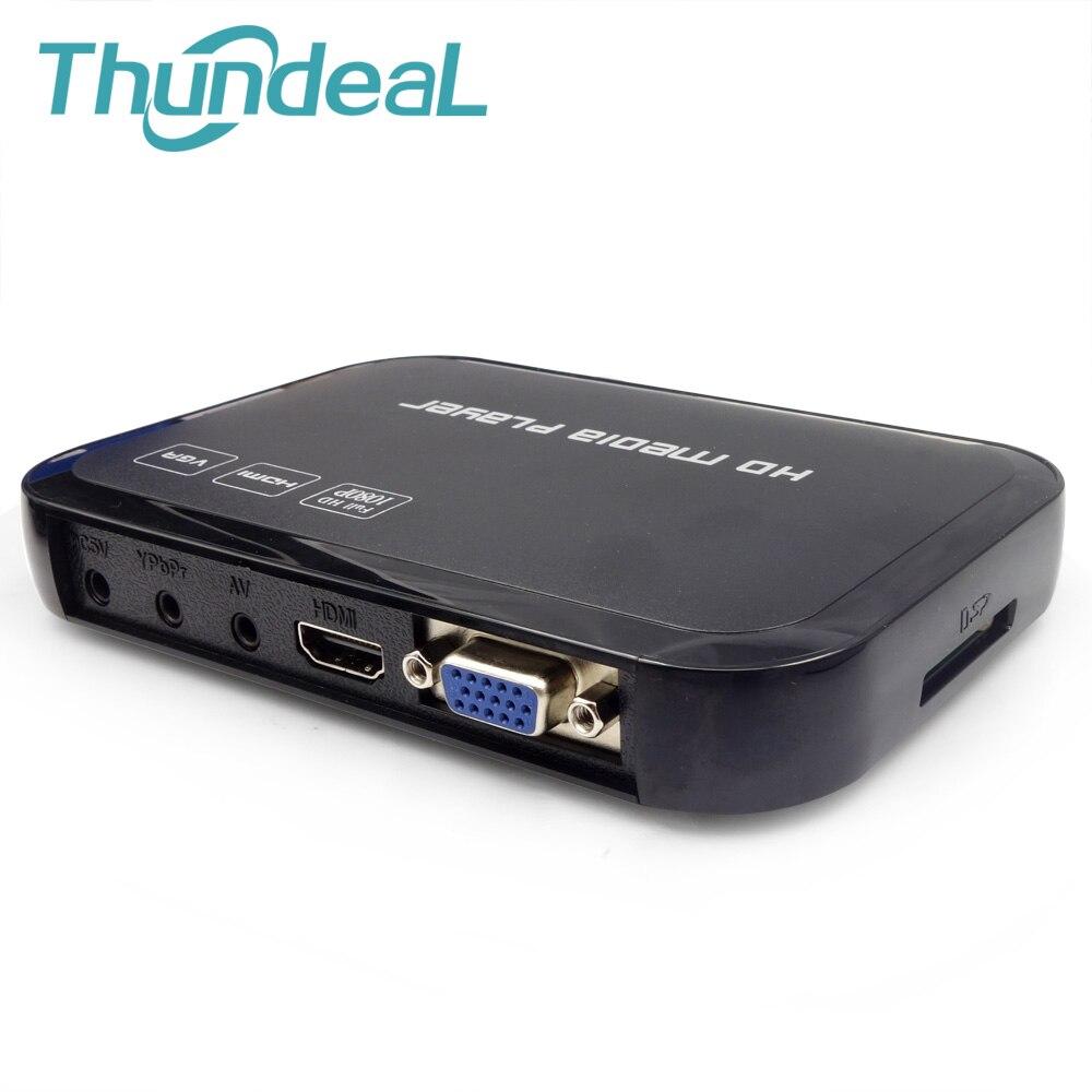 HD601 multimédia H.264 MKV Full HD 1080 P HDMI HDD lecteur multimédia Center HDMI VGA AV sortie avec télécommande AVI RMVB RM OTG
