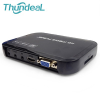 Multimedia H 264 MKV Full HD 1080P HDMI HDD Media Player Center HDMI VGA AV Output